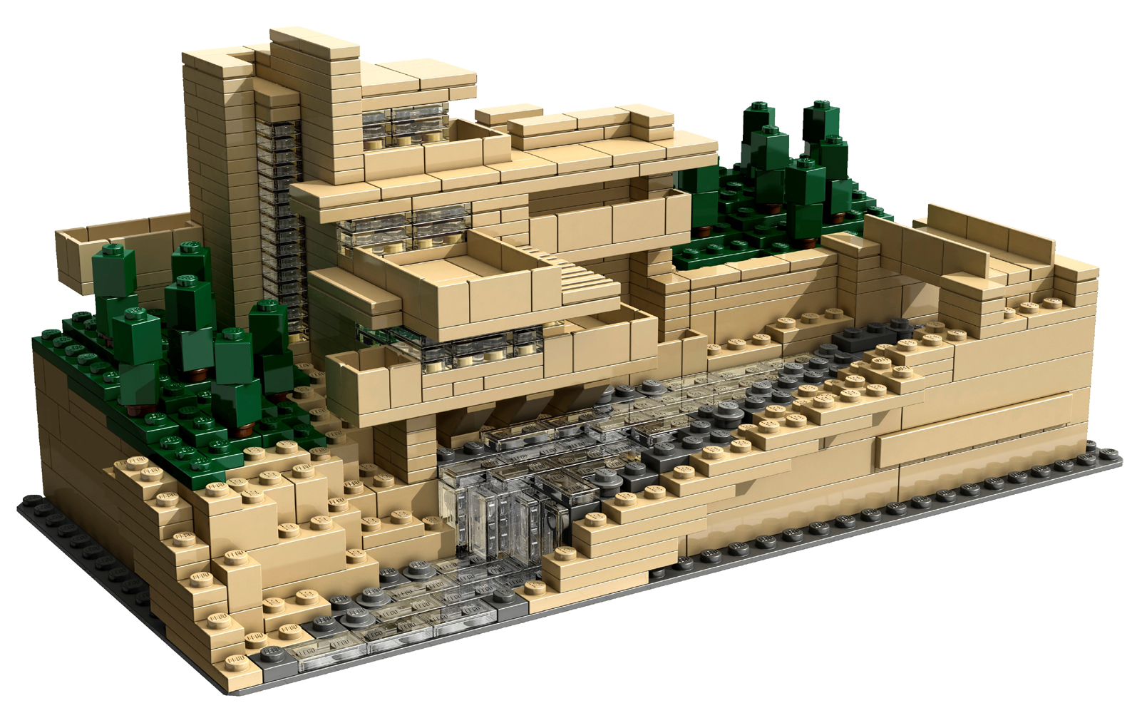 designed by frank lloyd wright in 1934 fallingwater lego set. Black Bedroom Furniture Sets. Home Design Ideas