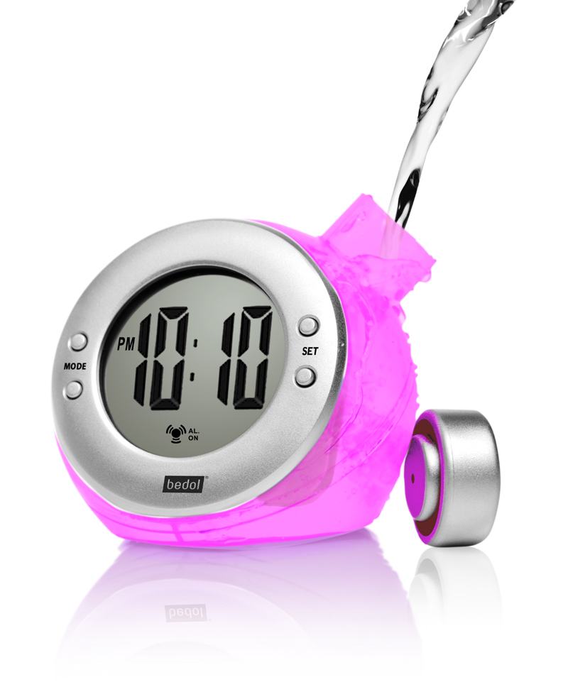 Eco-Friendly Lavendar Alarm Water-Powered Clock