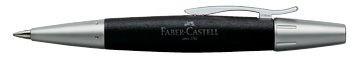 Faber-Castell E-Motion Ballpoint Pen in Pearwood Black
