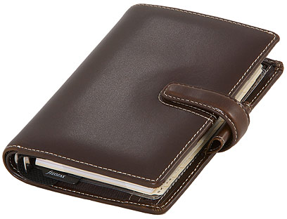 Filofax Pocket Cuban in Saddle Brown