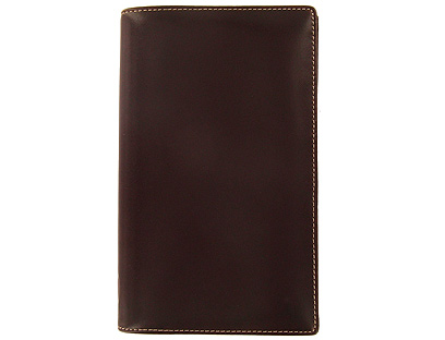 Filofax Slim Cuban in Saddle Brown