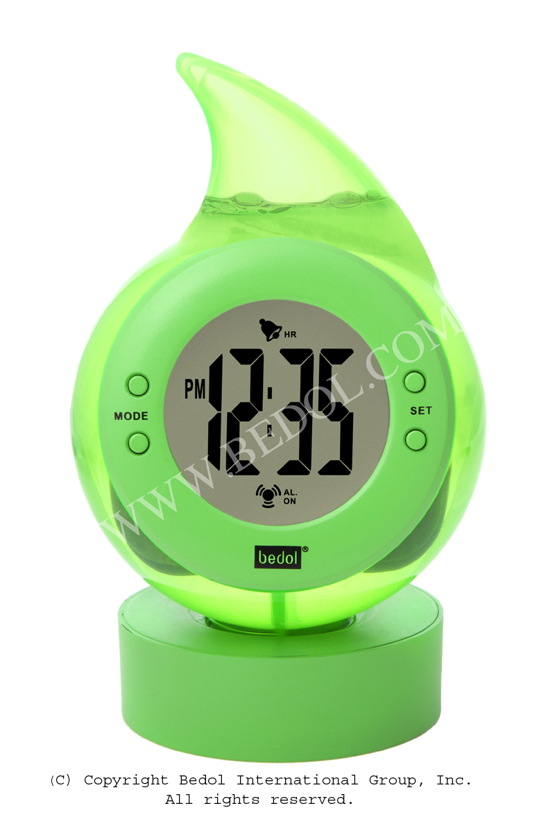Alarm The Bedol Water Clock Green