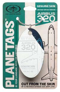 Airbus 320 Airplane tag