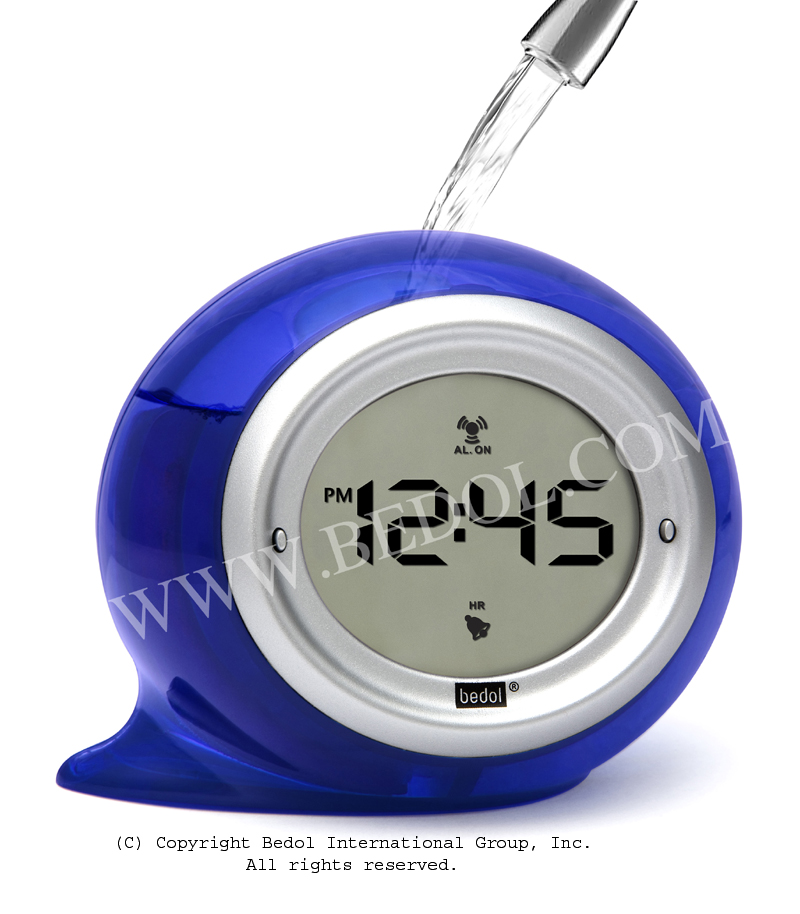 Squirt Alarm The Bedol Water Clock Blue