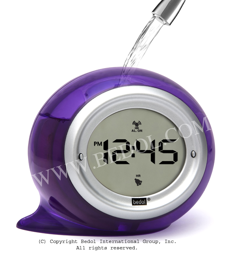 Squirt Alarm The Bedol Water Clock Purple