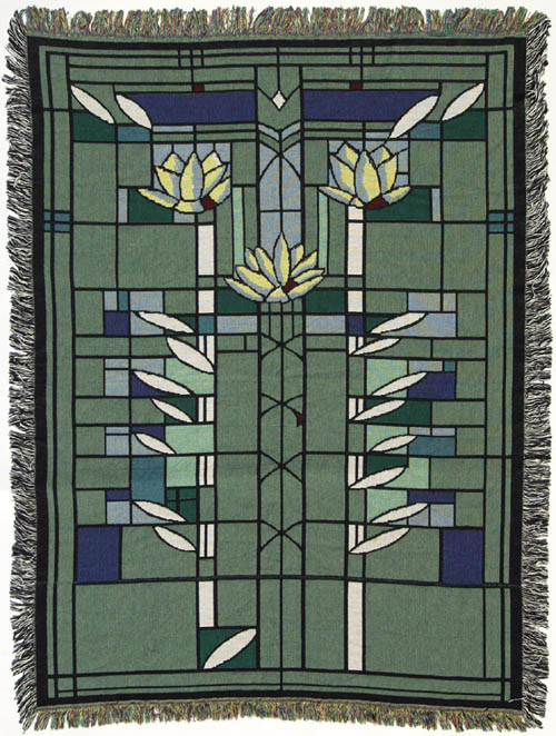 Frank Lloyd Wright Waterlilies Throw