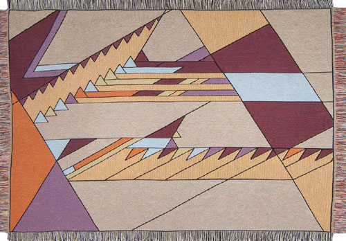 Frank Lloyd Wright Sanders Nature's Cascade Throw