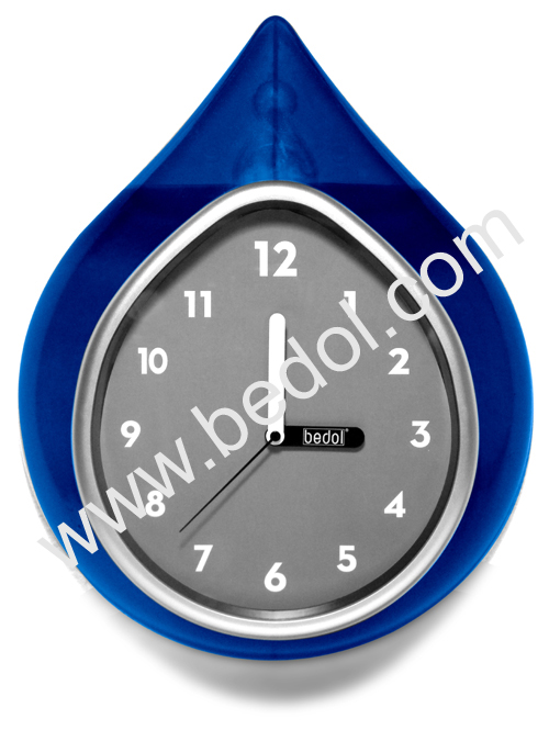 The Bedol Wall Water Clock Blue