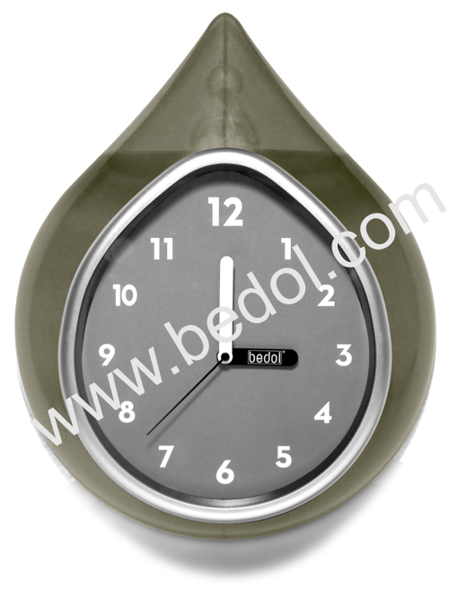The Bedol Wall Water Clock Gray
