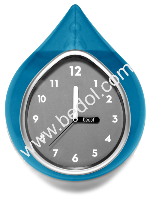 The Bedol Wall Water Clock Teal