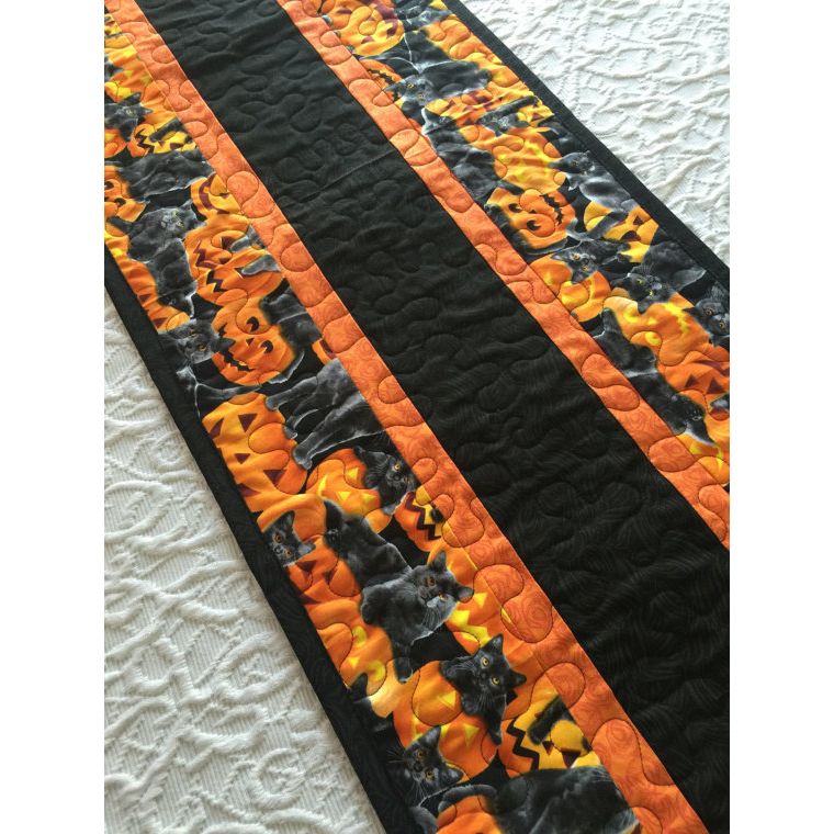 Halloween Table Runner Orange
