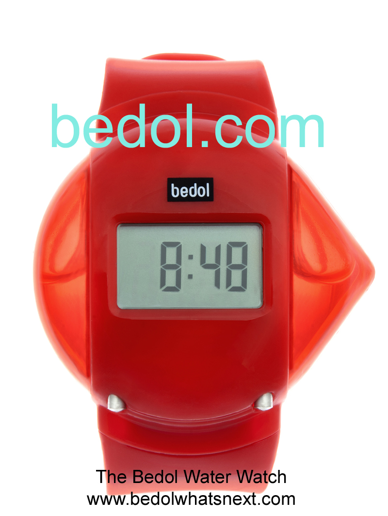 Eco-Friendly Bedol Water Watch Red